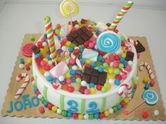 Candy cake By verasantos on CakeCentral.com