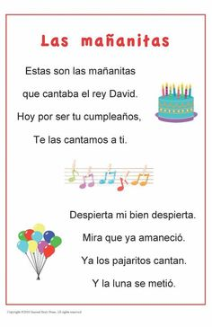 """• Build vocabulary and cultural awareness this traditional Spanish song. • Display the laminated 11"""" x 17"""" poster in your classroom, or download a digital copy here to print and share with all your st"""