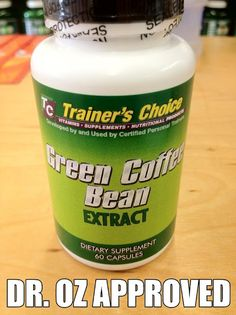 b927dd4cd3aa GREEN COFFEE BEAN is available at Trainer s Choice!!! Highly publicized in  the news
