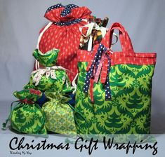 Tutorials for how to sew fabric gift bags of all sorts, from totes to drawstring bags, from simple to elaborate. Perfect for gifts at any time of year.