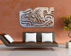 Westcoast Native Whale design cut in brushed steel by Noel Brown (Coast Salish/Kwakwaka'wakw). Metal Tree Wall Art, Metal Art, Wood Art, Arte Tribal, Tribal Art, Native Art, Native American Art, Corte Plasma, Paintings