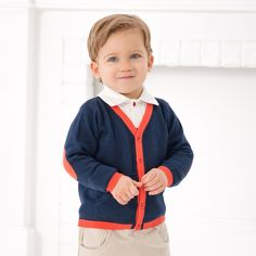 Knitted Button Down Cardigan by Dave Bella Kids Clothes