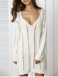 SHARE & Get it FREE | Trendy Plunge Neck Crochet Long Sleeve Sweater DressFor Fashion Lovers only:80,000+ Items • New Arrivals Daily • Affordable Casual to Chic for Every Occasion Join Sammydress: Get YOUR $50 NOW!