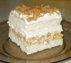 Witam. Niedawno trafiłam na bardzo ciekawy przepis, postanowiłam go wypróbować, i muszę powiedzieć, że jest to jedne z najlepszych ciast jak... Polish Desserts, Polish Recipes, Cookie Desserts, Cake Recipes, Dessert Recipes, Delicious Desserts, Yummy Food, Kolaci I Torte, Sweets Cake