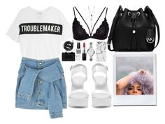 """You ain't nothing but a troublemaker girl"" by mayanap ❤ liked on Polyvore featuring FOSSIL, Zoe Karssen, Nly Shoes, Holga, Urbanears, Casetify, MICHAEL Michael Kors, OPI, MAC Cosmetics and Charlotte Russe"
