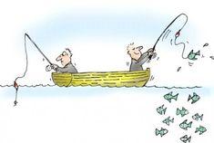 Cartoon People Fishing | Cartoon: fishing luck patience (medium) by martin guhl tagged fishing ...