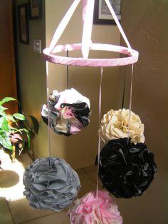 Custom Designed Nursery Mobile Choose your Colors Pom by RIandPI, $85.00