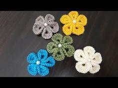 3D yonca modeli tığ işi çiçek nasıl yapılır/ örgü modelleri - YouTube