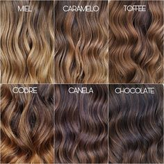 Brunette Hair With Highlights, Dark Brunette Hair, Brown Hair Balayage, Brown Blonde Hair, Light Brown Hair, Light Blonde Highlights, Hair Color Caramel, Chocolate Caramel Hair, Hair Color Shades