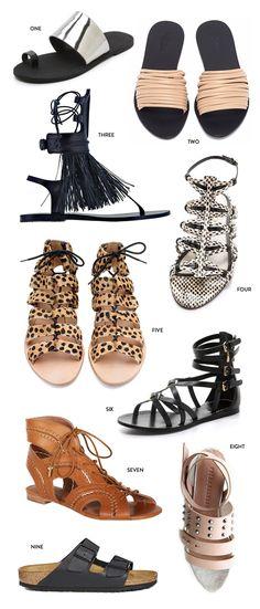 best spring sandals - top 20 summer sandals - fashion edit - sandals - shoes - meg biram - spring - flat sandals