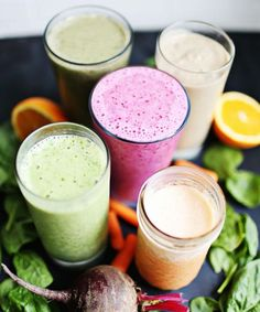A Beautiful Mess - 5 Breakfast Veggie Smoothies | Breakfast smoothies filled with protein and all the nutrients you need to start your day. #refinery29 http://www.refinery29.com/a-beautiful-mess/17
