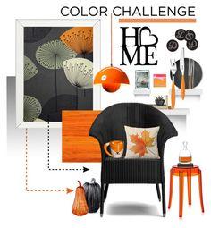 """Black & Orange Simplicity"" by ellen-hilart ❤ liked on Polyvore featuring interior, interiors, interior design, home, home decor, interior decorating, York Wallcoverings, Eichholtz, SANDERSON and Élitis"