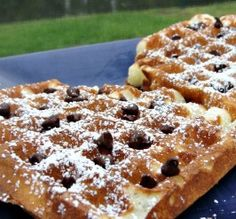 Sour Cream- Blueberry Waffles from All Clad Waffle Maker recipes