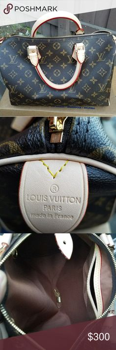 Louis Vuitton Speedy Bag 30 PreOwned Still on superb shape!! No misused or rips! No stains at all! Clean bag  Very clean and perfect for any outgoing. This is Speedy 30   **TBH I CAN NOT PROVE ITS AUTH THATS WHY THE PRICE**  **BE RESPECTFUL & RESPECT SELLER**  Comes with LV lock and Key Dust bag as well. Louis Vuitton Bags Shoulder Bags