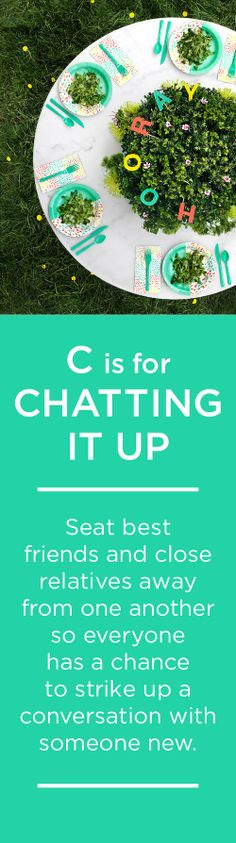 C is for CHATTING IT UP