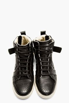 ccf925fbf0a9 CONVERSE BY JOHN VARVATOS Black Leather Zippered Weapon High-Top Converse  Style