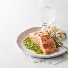 Roast Salmon with Chimichurri Sauce