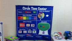 Love our circle time pocket chart! Comes with great cards to change out letters, colors, shapes, rhymes, and weather spinner. This is a great resource for preschool classrooms.
