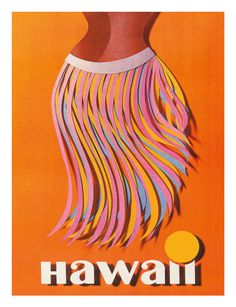 Vintage Travel Poster -Hawaii