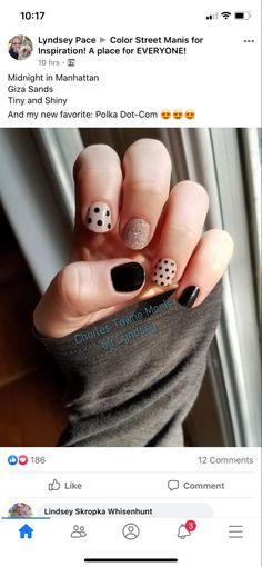 Fancy Nails, Cute Nails, Pretty Nails, Nail Color Combos, Nail Colors, Striped Nails, Nail Tips, Nail Ideas, Healthy Nails