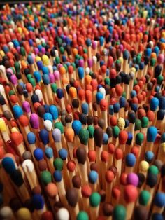 dianerz817: Colorful Matches <3 | right brain left brain