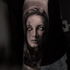Patrik_Stellar_Tattoo (@patrik.stellar) • Fotky a videá na Instagrame Portrait, Tattoos, Tatuajes, Headshot Photography, Tattoo, Cuff Tattoo, Portraits, Flesh Tattoo
