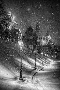 Winter Nails Designs - My Cool Nail Designs Winter Szenen, Winter Magic, Winter Night, Cold Night, Winter Park, Images Murales, Beautiful Places, Beautiful Pictures, Snow Images
