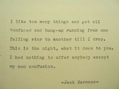 JACK KEROUAC Hand Typed Typewriter Quote Made by PoetryBoutique, $10.00