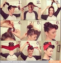 Greaser girl hair style