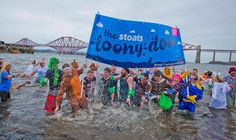 Start 2017 with a splash by taking part in the Stoats Loony Dook in aid of Royal Blind!
