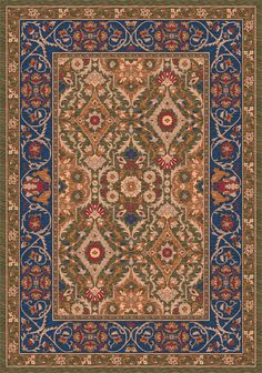 Pastiche Sandakan Autumn Green Rug | Wayfair