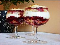Trifle v pohári Trifle, Tiramisu, Baked Goods, Panna Cotta, Cheesecake, Food And Drink, Pudding, Baking, Ethnic Recipes