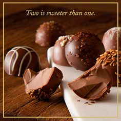 Celebrate any occasion with the silken texture and pure, intense flavors of our chocolate truffles. #chocolateindulgence