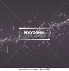 Wireframe mesh polygonal background. Abstract form with connected lines and dots. Vector Illustration EPS10.