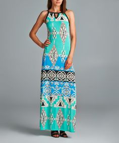 Loving this Mint Ikhat Maxi Dress on #zulily! #zulilyfinds