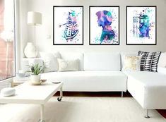 The Doctor Who Watercolor Painting Poster Set