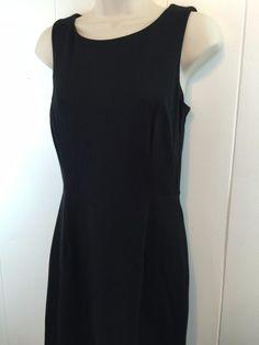 Chicos 0 XS S Little Black Dress Stretch Rayon Sleeveless Basic Career Size 4/6