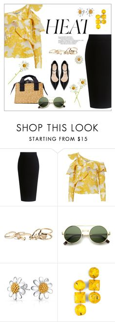 """""""Daisy"""" by frenchfriesblackmg ❤ liked on Polyvore featuring Theory, self-portrait, GUESS and Bling Jewelry"""