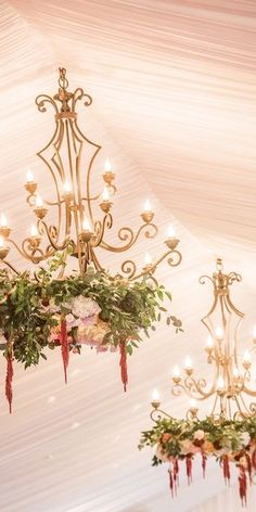 Floral Chandeliers for a Christmas Wedding