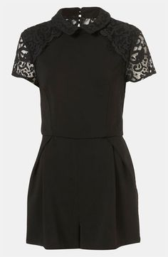 Topshop Lace Yoke Romper available at #Nordstrom OBSESSION