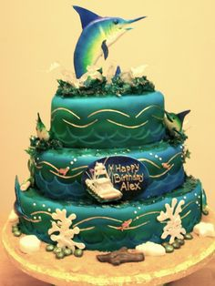 Blue Marlin Fishing Cake Cakes Pinterest Marlin fishing
