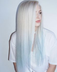 53 Platinum Blonde Hair Shades and Highlights for 2020 Blonde To Blue Ombre ❤️ Try platinum blonde hair shade if you want to stand out from the crowd. This color is so eye-catching. See our collection of platinum blonde looks. ❤️ See more: Hair Dye Colors, Ombre Hair Color, Cool Hair Color, Blond Ombre, Brown Ombre Hair, Ombre Balayage, Blonde Hair Shades, Platinum Blonde Hair, Blonde And Blue Hair