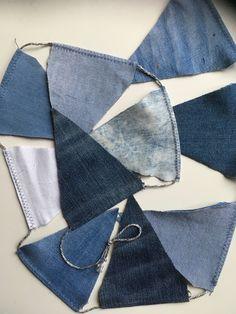 Vlaggenlijn van jeans Old Jeans, Van, Handmade, Accessories, Hand Made, Vans, Handarbeit, Vans Outfit