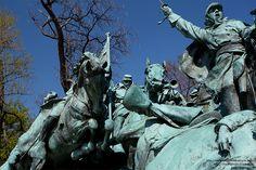 Sculptures on the Gen. Ulysses S. Grant Memorial, Washington, DC