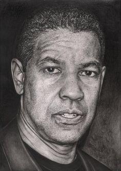 'Denzel Washington' graphite drawing by Pen-Tacular-Artist on deviantART