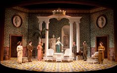 Pygmalion at the Old Globe, scenic design by Alexander Dodge; costumes by Robert Morgan