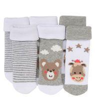 Socken - gestreift, Bären - 3er-Pack