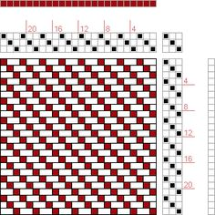 Hand Weaving Draft: Forward, Figure 11, Donat, Franz Large Book of Textile Patterns, 3S, 3T - Handweaving.net Hand Weaving and Draft Archive
