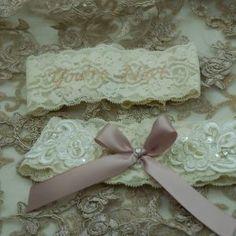 Garter set made for Ilze-Mari Wedding Garters, Garter Set, Heavenly, Custom Design, Palette, Colour, Bride, Fit, Style