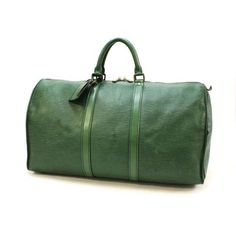 Louis Vuitton Keepall 50 Epi Handle bags Green Leather M42964